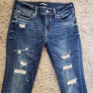 Express Destructed skinny jeans